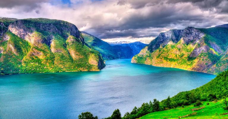Aurlandsfjorden i Norge