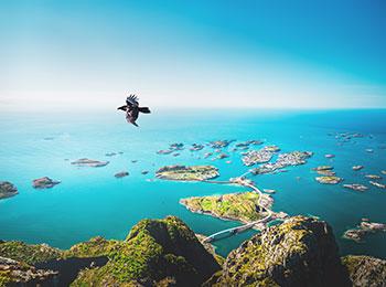 Vidunderlige Lofoten i Norge